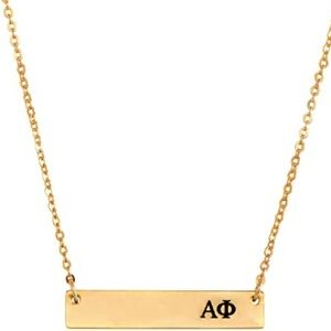 Jewelry - Alpha Phi Gold Bar Necklace